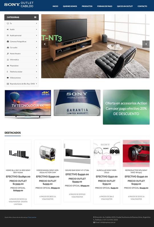 Desarrollo web para sony argentina listado de productos for Paginas de espectaculos argentina